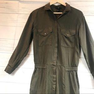 a40d412d4014 H M Pants - H M Olive Green Utility Long sleeve Jumpsuit